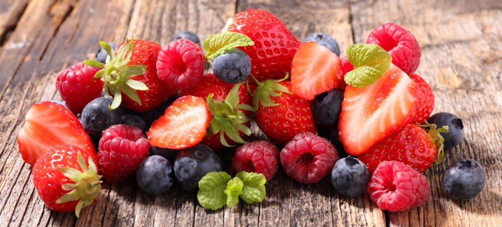 Les fruits rouges sont riches en antioxydants
